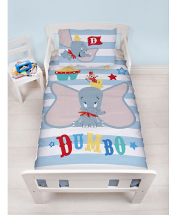 Dumbo Circus Junior Duvet Cover and Pillowcase Set