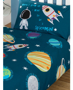 Solar System Planets & Space 4 in 1 Junior Bedding Bundle - Duvet, Pillow and Covers