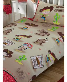 Howdy Cowboy Single Duvet Cover and Pillowcase Set