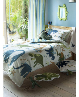 Catherine Lansfield Dinosaur Single Duvet Cover & Pillowcase Set