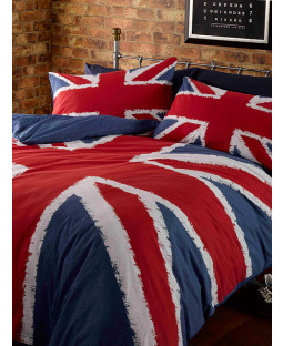 Union Jack Single Duvet Cover and Pillowcase Set