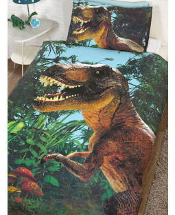 Jurassic T-Rex Dinosaur Single Duvet Cover Set