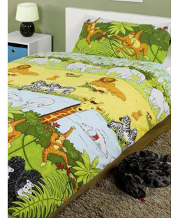 Jungle Animals 4 in 1 Junior Bedding Bundle Duvet Cover
