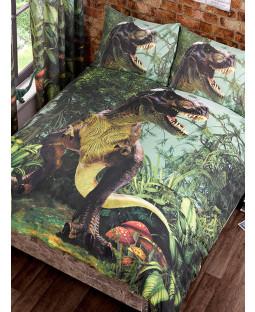 T-Rex Dinosaur Double Duvet Cover and Pillowcase Set