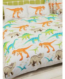 Dinosaur World Single Duvet Cover and Pillowcase Set Bedroom
