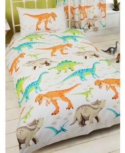 Dinosaur World Junior Toddler Duvet Cover & Pillowcase Set