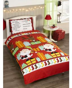 Santa's List Junior Duvet Cover and Pillowcase Set