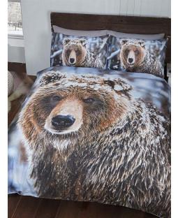 Big Bear Double housse de couette et taie d'oreiller