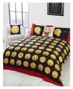 Emoji Icons Double Reversible Duvet Cover Set
