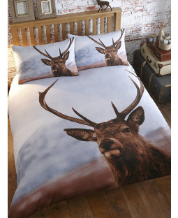 Stag Double Duvet Cover and Pillowcase Set