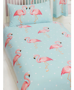 Juego de funda nórdica y funda de almohada Fifi Flamingo Single