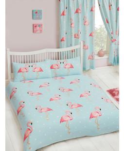 Fifi Flamingo Double Duvet Cover and Pillowcase Set