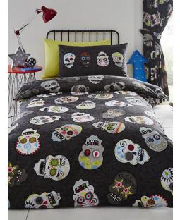 Sugar Skulls Double Duvet Cover and Pillowcase Set