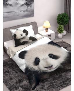 Panda Single Cotton Duvet Cover and Pillowcase Set