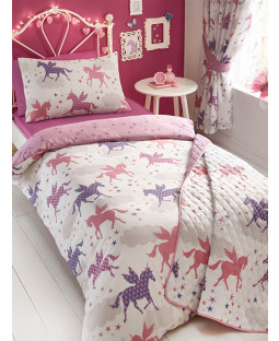 Divine Unicorns Single Duvet Cover and Pillowcase Bedding Set
