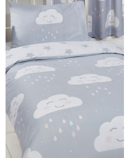 Happy Clouds Junior Toddler Duvet Cover and Pillowcase Set