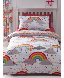 Ensemble de housse de couette et taie d'oreiller Clouds and Rainbows