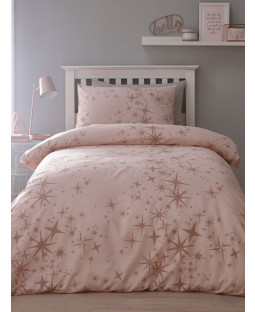 Glitter Stars Single Duvet Cover and Pillowcase Set