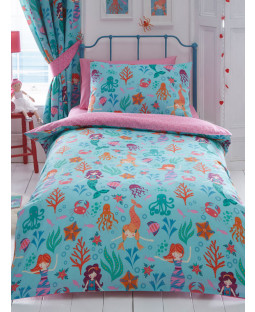 Mermaid Double Duvet Cover and Pillowcase Set