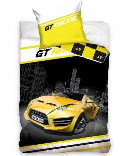 GT Racer Single Duvet Cover and Pillowcase Set