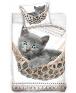 Kitten Hammock Single Cotton Duvet Cover Set