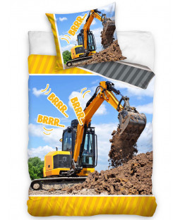 Digger Single Reversible Duvet Cover and Pillowcase Set