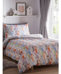 Owls Single Duvet Cover Set