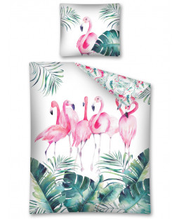 Flamingo Flock Single Duvet Cover Set