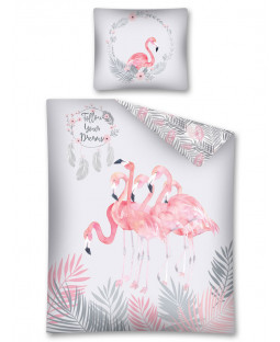 Follow Your Dreams Flamingo Single Duvet Cover Set