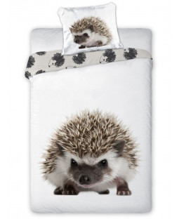 Hedgehog Single Cotton Duvet Cover and Pillowcase Set