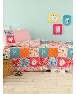 Patchwork Single Duvet Cover and Pillowcase Set