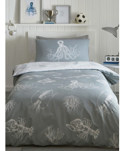 Ocean Life Glow in the Dark Single Duvet Cover Set