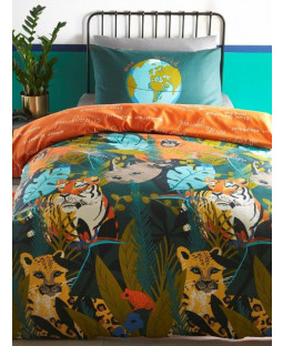 Endangered Animals Single Duvet Cover and Pillowcase Set
