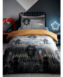 Gamer Glow in the Dark Single Duvet Cover Set