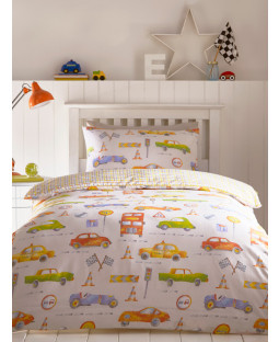 Cars Single Duvet Cover and Pillowcase Set