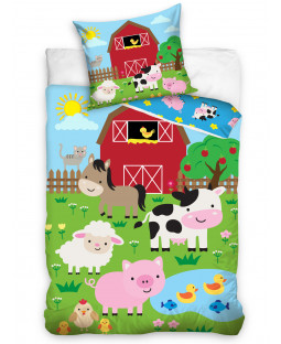Farm Animals Single Duvet Cover Set - European Size