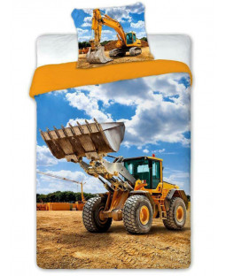 Digger Single Duvet Cover and Pillowcase Set - European Size