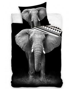 Elephant Single Duvet Cover Set - European Size