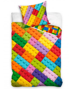 Building Blocks Diagonal Single Duvet Cover Set - European Size