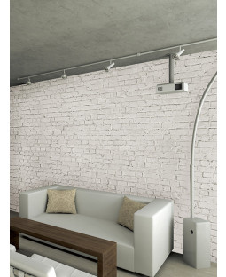Loft Brick Effect Wall Mural - White 232 x 315 cm