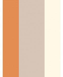Stripe Wallpaper - Orange / Coffee / Cream - E40915