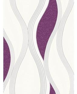 Wave Embossed Textured Wallpaper - Purple - E62006