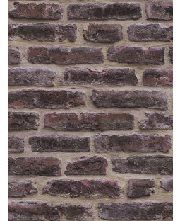 Dark Red Rustic Brick Wallpaper - J34408