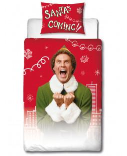 Buddy The Elf Snowflakes Single Duvet Cover Set