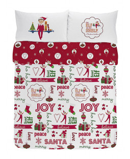 Elf on the Shelf Double Cotton Duvet Cover Christmas