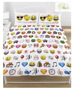 Emoji Juego de edredón doble y funda de almohada doble