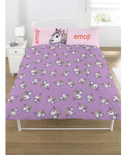 Emoji Unicorn Double Duvet Cover Beding Set