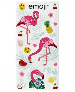 Emoji Flamingos Beach Towel