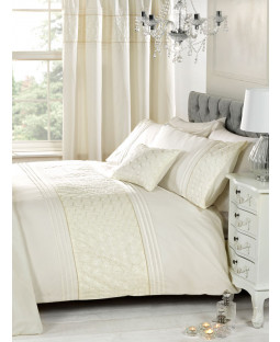 Everdean Floral Cream Super King Duvet Cover and Pillowcase Set