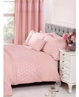 Everdean Floral Blush Pink Super King Duvet Cover and Pillowcase Set
